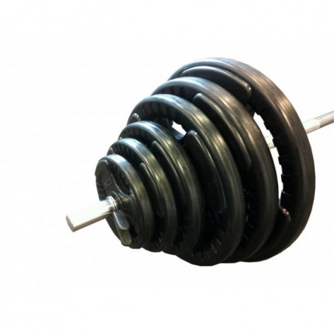 80kg Standard Rubber Coated Barbell Weights Set