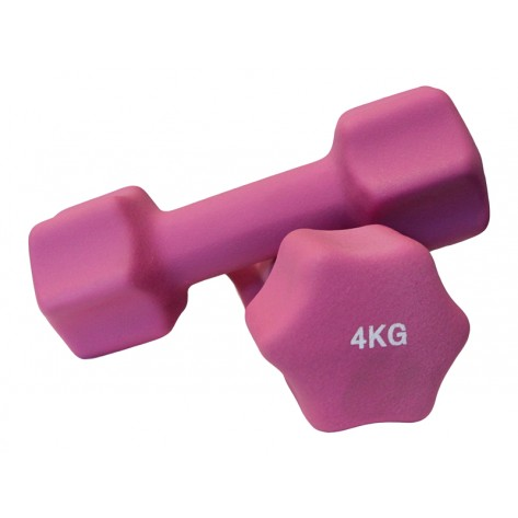 Pair of 4kg Neoprene Dumbbell