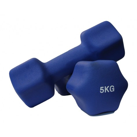 Pair of 5kg Neoprene Dumbbell