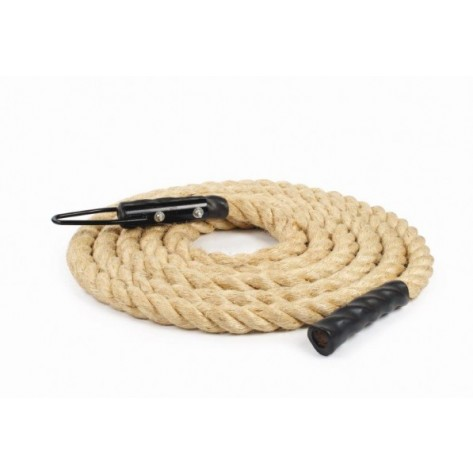 Climbing Rope 7M 1.5 Inch Diameter with Metal Clamp and Poly Ends