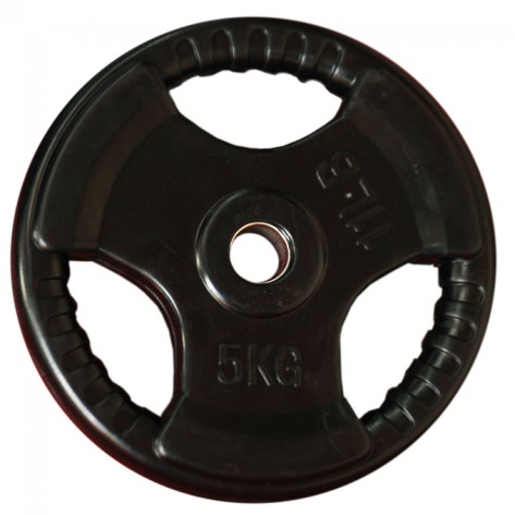 5kg Standard Size Rubber Coated Weight Plate