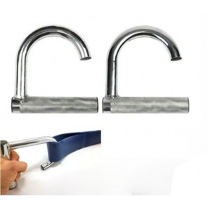 Resistance Power Band Assist Chrome Hook Handles in Pair