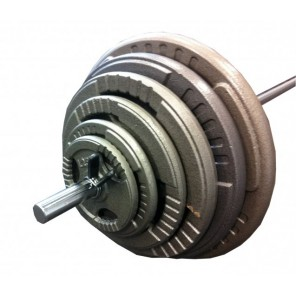 110kg Standard Hammertone Barbell Weights Set