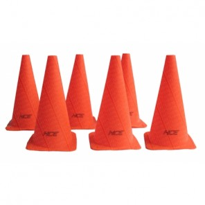 6Pcs 30cm Sports Training Safety Cones