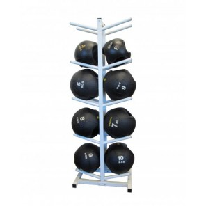 Double-grip medicine ball package with rack 3-10kg