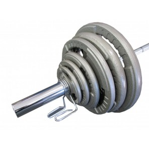 180KG OLYMPIC HAMMERTONE BARBELL WEIGHTS SET