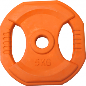5kg Rubber Coated Body Bump Weight Plate