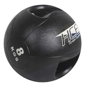 8Kg Double Grip Handles Medicine Ball