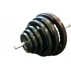 60kg Standard Rubber Coated Barbell Weights Set
