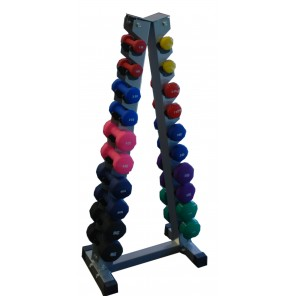 Vinyl Dumbbell 1kg-10kg With Rack Set 10Pair -Home Gym