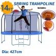 14ft Trampoline Round Safety Net+Spring Pad+Ladder Optional Basketball Set Kids