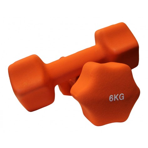 Pair of 6kg Neoprene Dumbbell