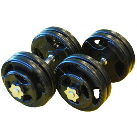 30kg Standard Rubber Dumbbell Set