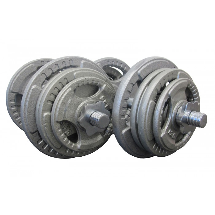 Dumbbell Set Big 5: 50kg Standard Hammertone Dumbbell Set , Dumbbell Package