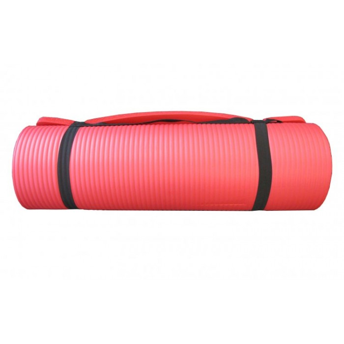 Yoga Mat Red 15mm Fitness And Sport
