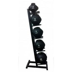 Double-grip medicine ball package with Single side Rack