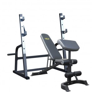 Deluxe Commercial FID Bench with Squat Rack